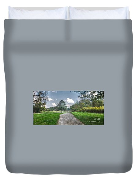 Pickerington Ponds Walkway Duvet Cover