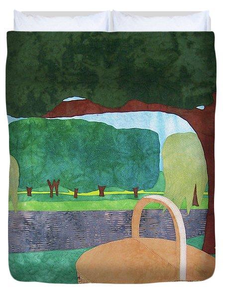 Picnic At Ellis Pond Duvet Cover