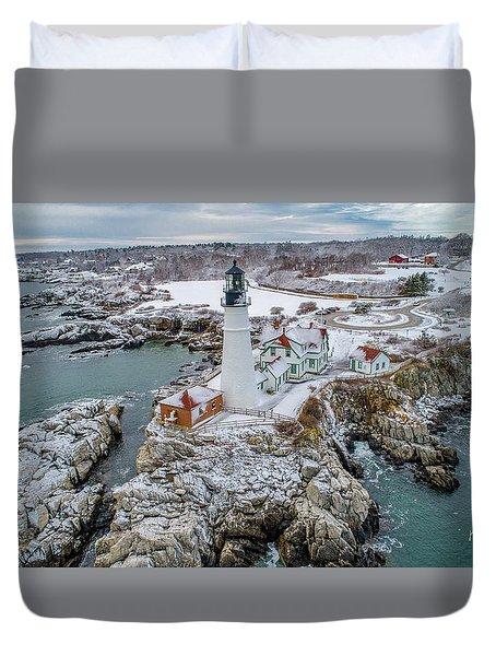Picturesque Maine  Duvet Cover