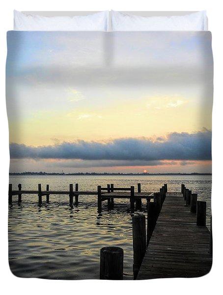 Pier Into Morning Duvet Cover