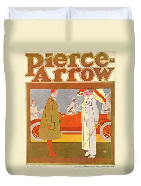 Pierce-arrow Advertisement Duvet Cover