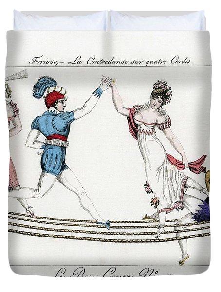Pierre Forioso At The Theatre De La Nouveaute And The Tivoli, By Pierre De La Mesangere's. Duvet Cover