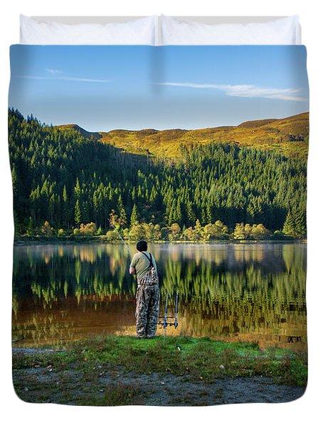 Pike Fisherman Duvet Cover