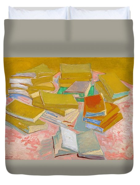 Piles Of French Novels - Digital Remastered Edition Duvet Cover