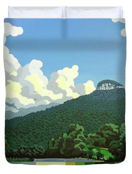 Pilot Mountain - Summer Duvet Cover