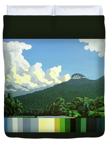 Pilot Mountain - Summer Duvet Cover