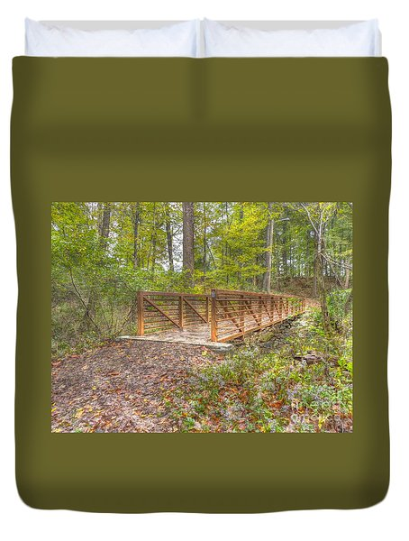 Pine Quarry Park Bridge Duvet Cover