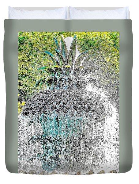 Pineapple Fountain Duvet Cover
