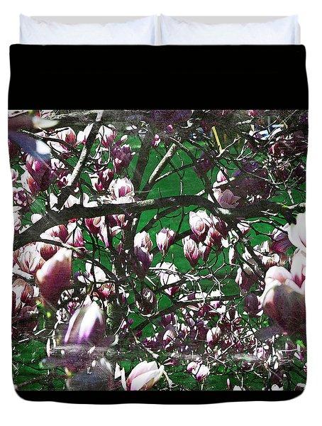 Pink Bush Duvet Cover
