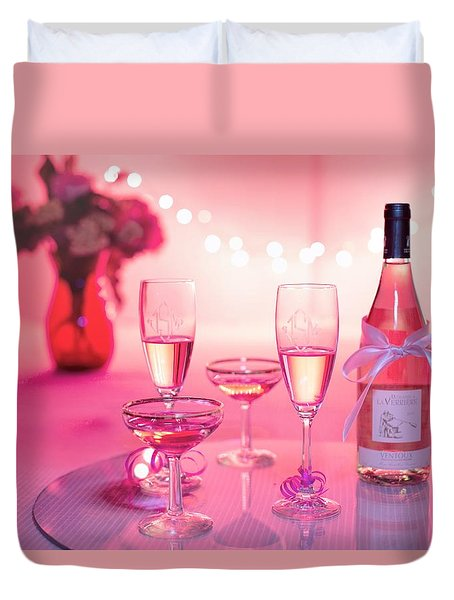 Pink Champagne Duvet Cover