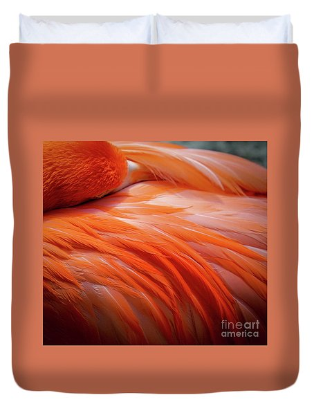 Pink Feathers Duvet Cover