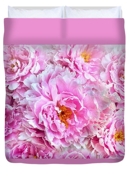 Pink Flowers Everywhere Duvet Cover
