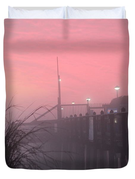 Pink Fog At Dawn Duvet Cover
