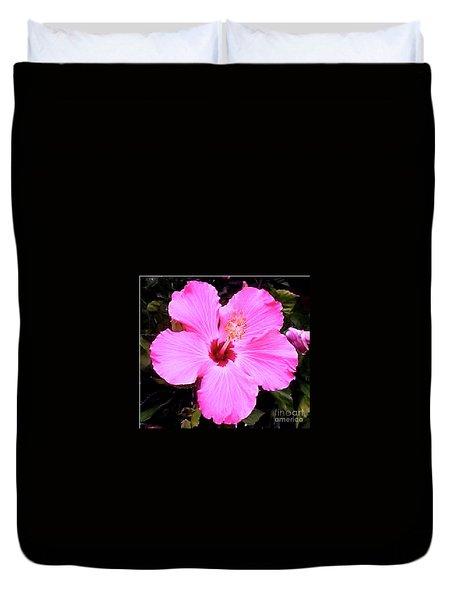 Pink Hibiscus Duvet Cover