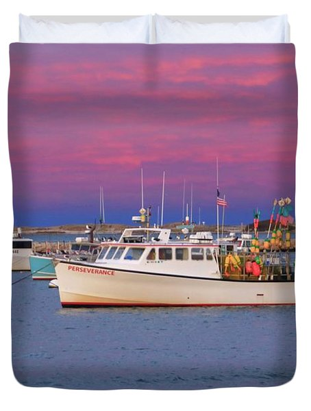 Pink In Plymouth Duvet Cover