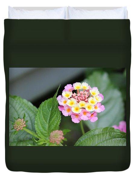 Pink Lantana Duvet Cover
