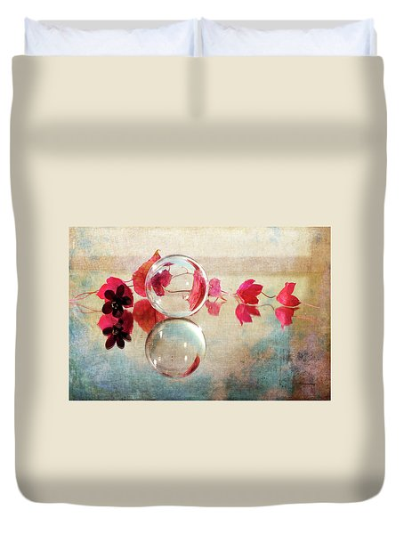 Duvet Cover featuring the photograph Pink Line by Randi Grace Nilsberg