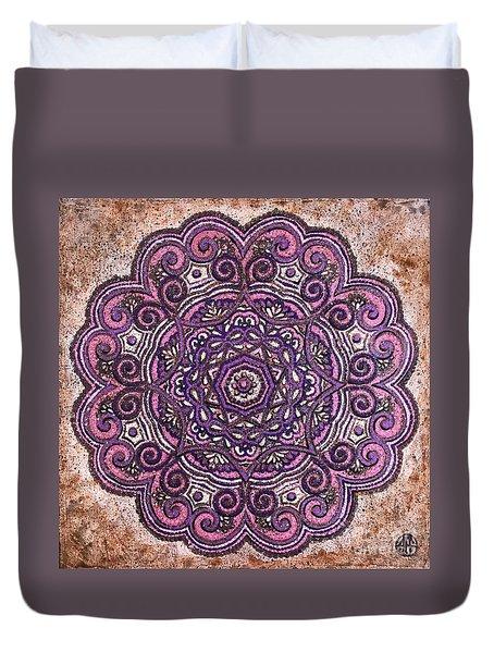 Pink Mandala Duvet Cover