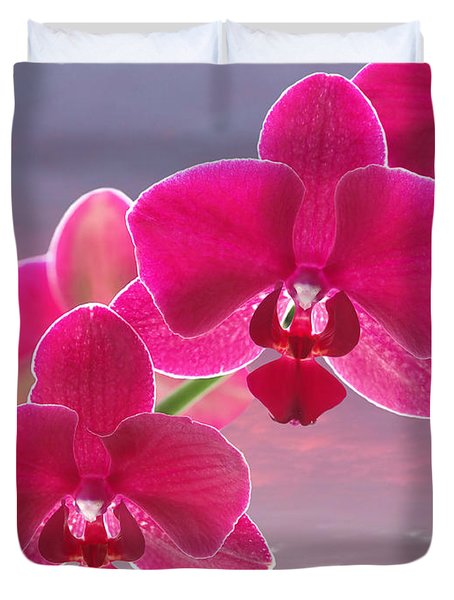 Pink Orchid Sunset Duvet Cover