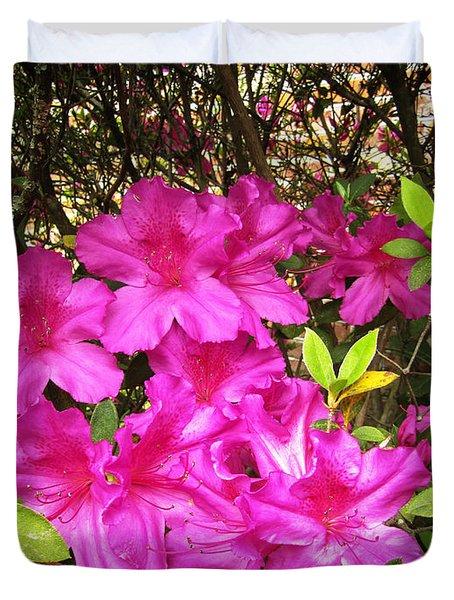 Pink Outside Duvet Cover