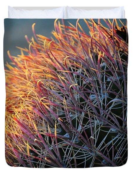 Pink Prickly Cactus Duvet Cover