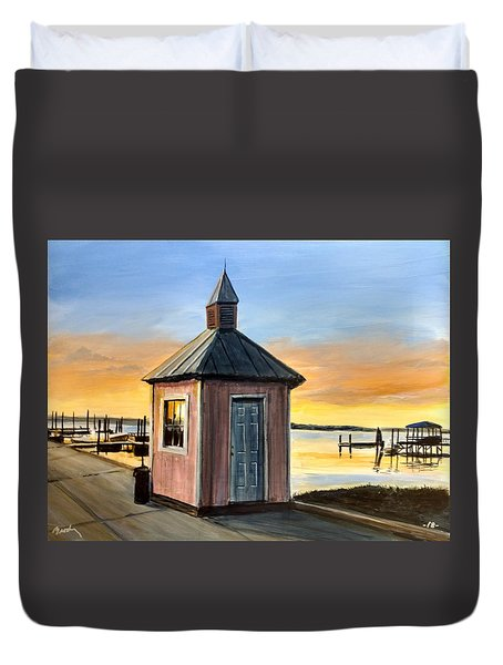 Pink Shed Duvet Cover