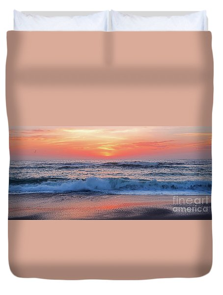Pink Sunrise Panorama Duvet Cover