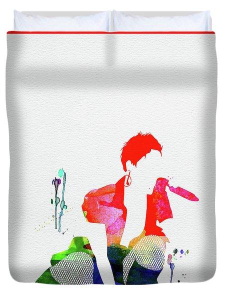 Pink Watercolor Duvet Cover