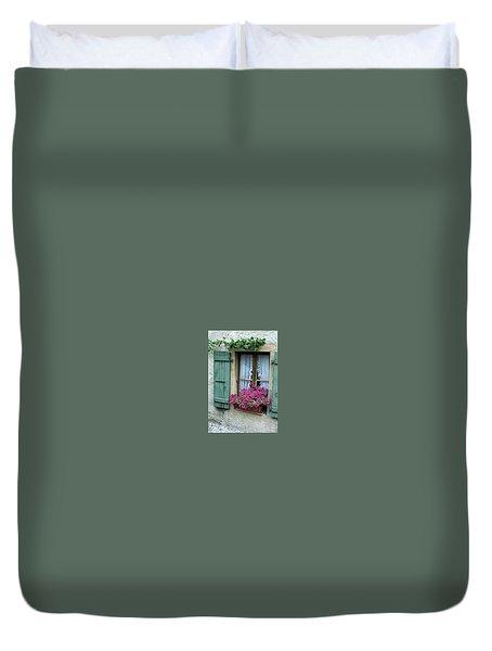 Pink Window Box Duvet Cover