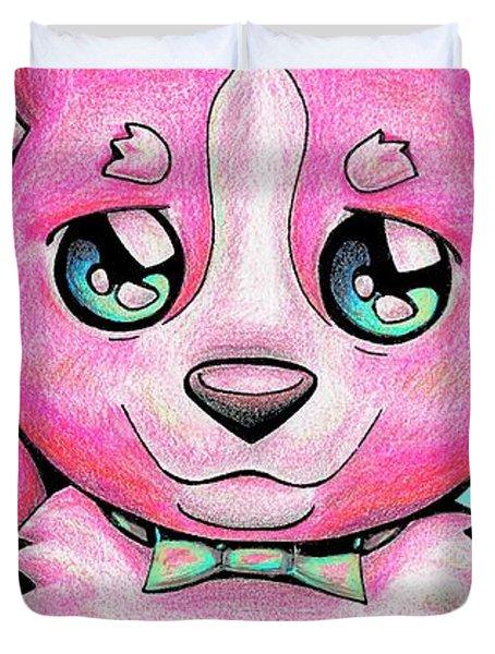 Pinkie Corgi Duvet Cover