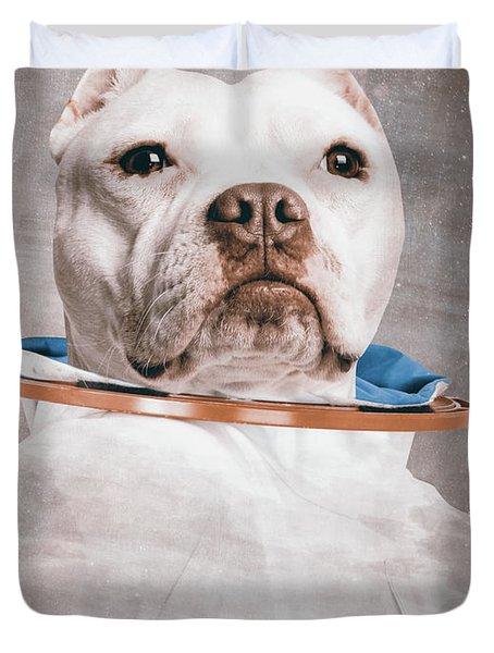 Pitbull Portrait Duvet Cover