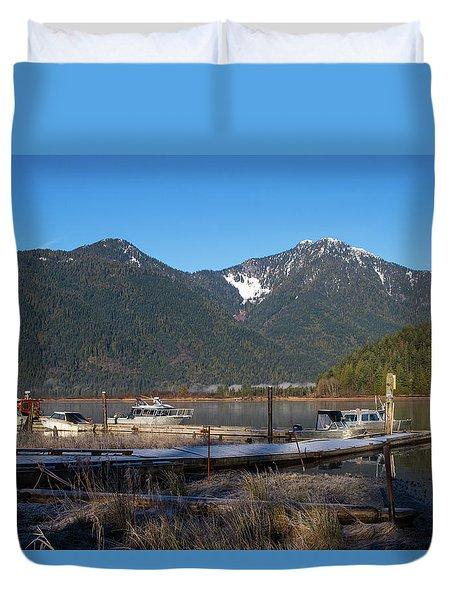 Pitt Lake Winterimpression Duvet Cover