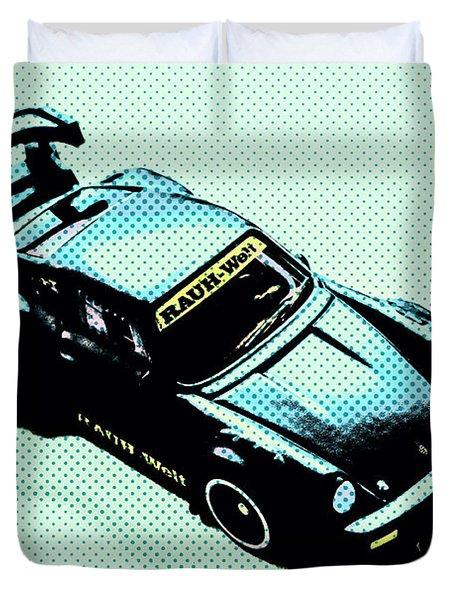 Pixel Porsche Duvet Cover