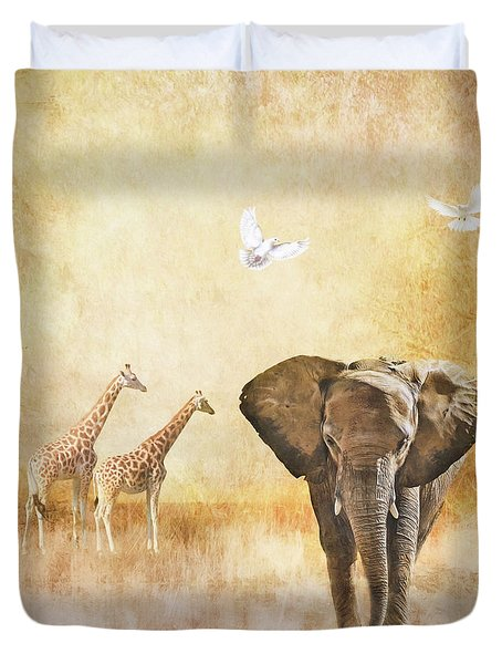 Plains Of Africa Duvet Cover