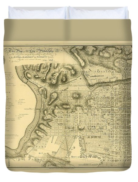 Plan Of The City Of Philadelphia And Its Environs Shewing The Improved Parts, 1796 Duvet Cover