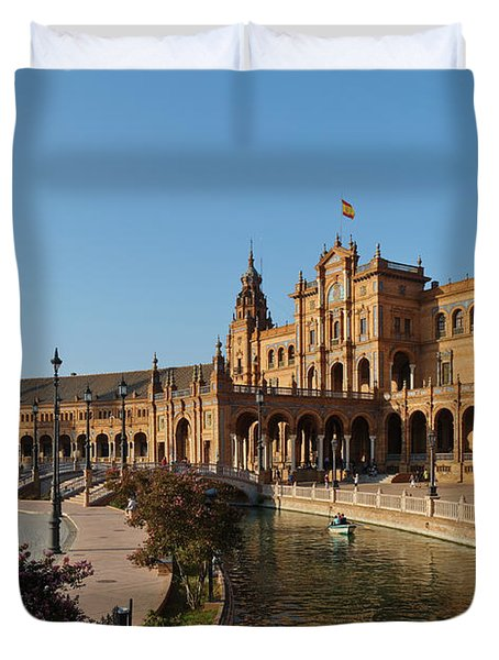 Plaza De Espana Bridge View Duvet Cover