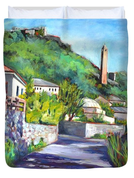 Pocitelji - A Heritage Village In Bosina Duvet Cover