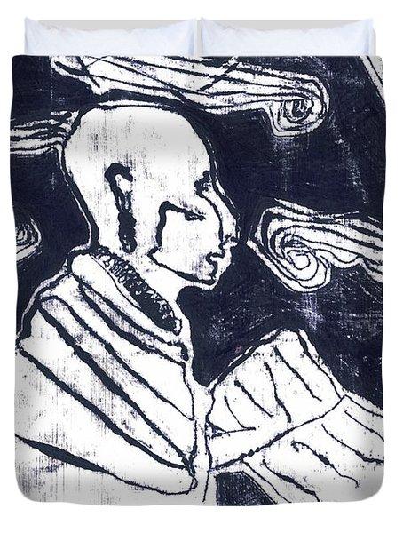 Poet Reading To Wind Clouds Otdv3 13 Duvet Cover
