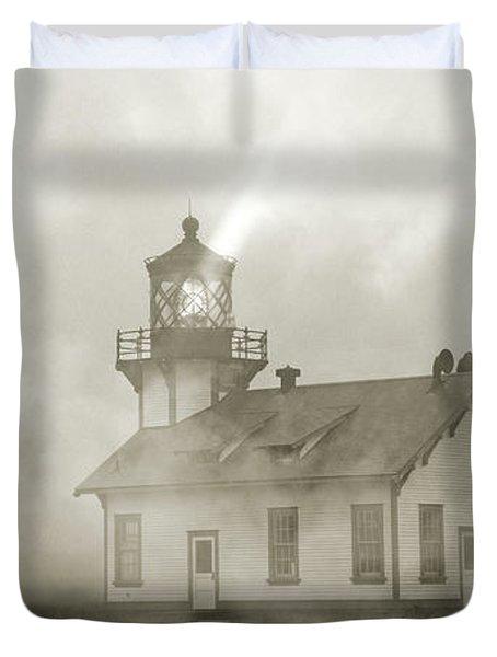 Point Cabrillo Lighthouse California Sepia Duvet Cover