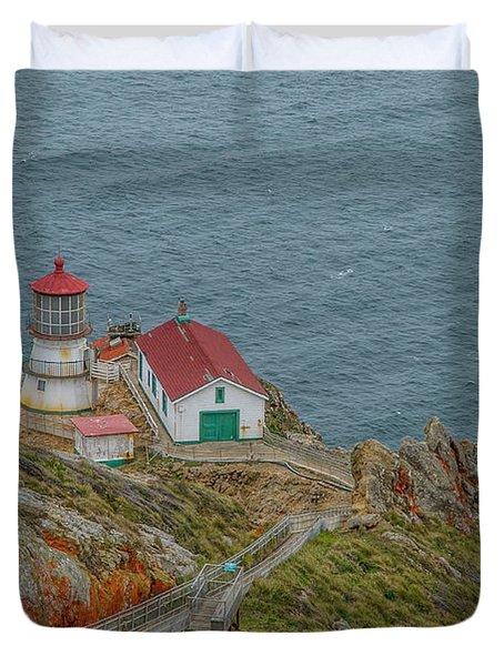 Point Reyes Lighthouse Duvet Cover