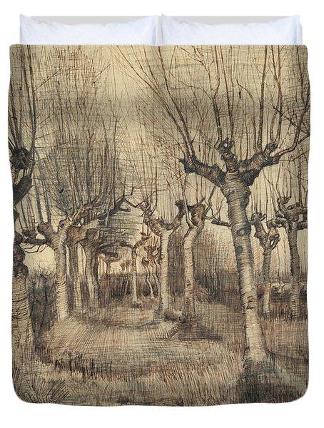 Pollard Birches Duvet Cover