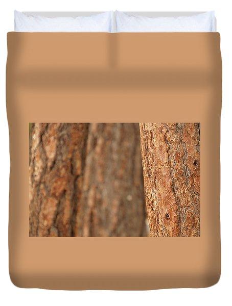 Ponderosa Pine Bark Detail Duvet Cover
