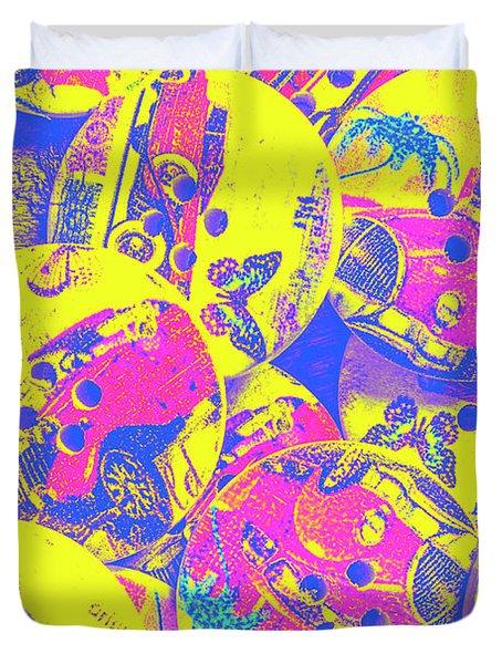 Pop Art Garage  Duvet Cover