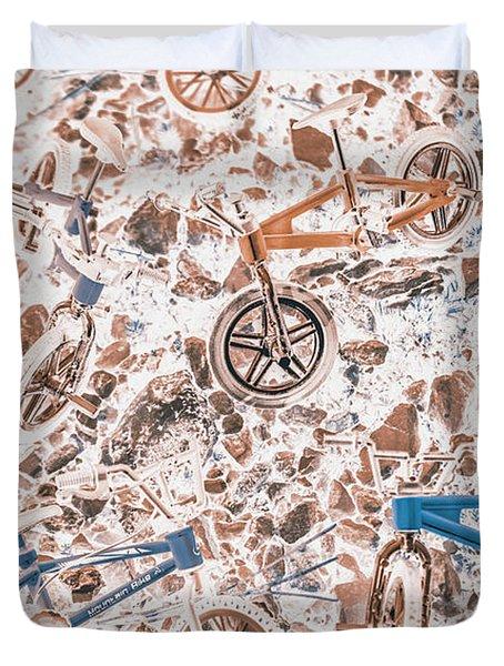 Pop Art Mountain Ride Duvet Cover