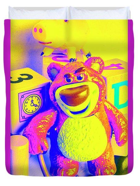 Pop Art Preschool  Duvet Cover