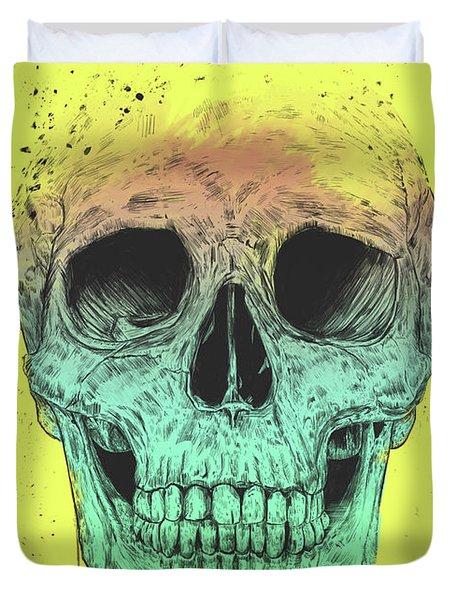 Pop Art Skull Duvet Cover