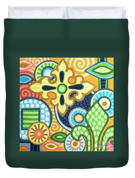 Pop Botanical 1 Duvet Cover