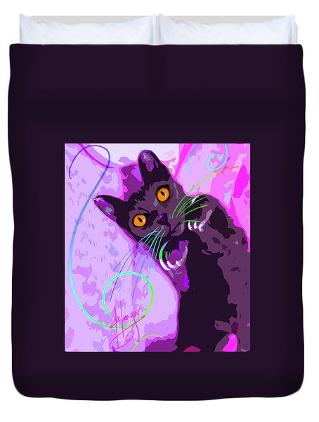 Pop Cat Angel Duvet Cover