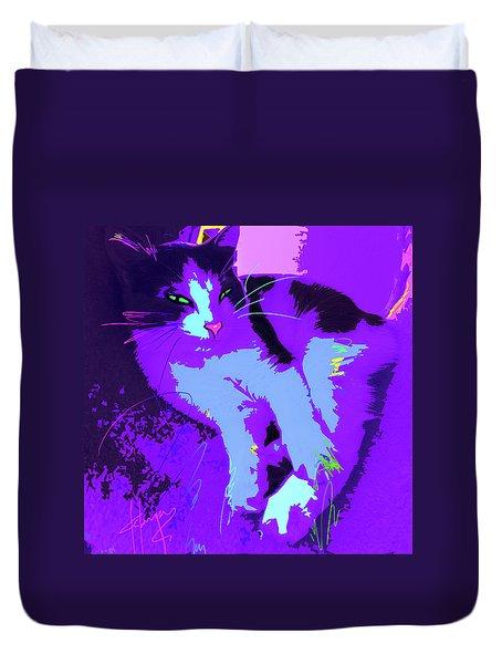Pop Cat Callie Duvet Cover