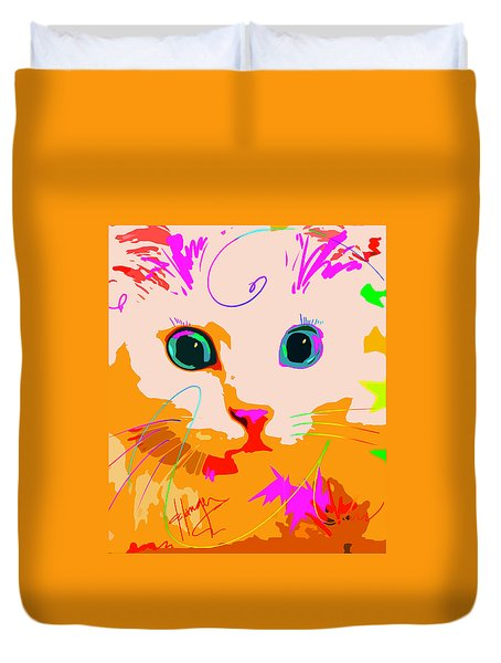 Pop Cat Creamsicle Duvet Cover